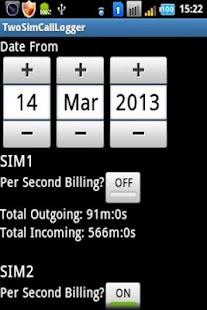 2SIMCallLogger screenshot