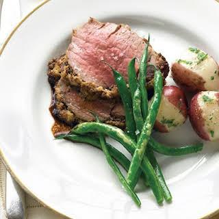 Beef Tenderloin with Fresh Herbs and Horseradish.