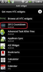 2012 Countdown Widget - screenshot thumbnail