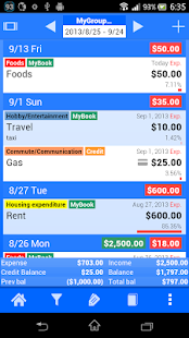 Spendroid Free - Finance Mgr- screenshot thumbnail