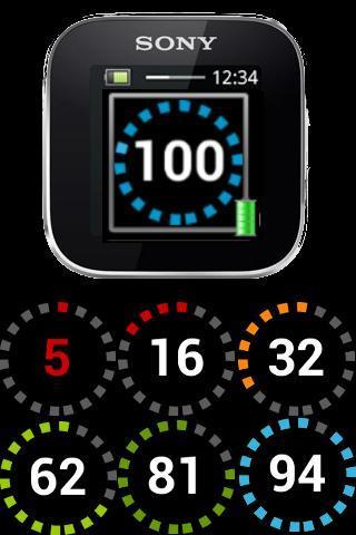 SmartWatch Phone Battery Level