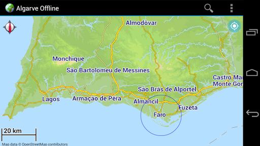 Offline Map Algarve Portugal