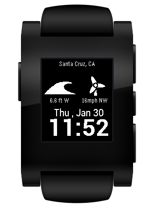 Watch Surf - Pebble Surf Watch