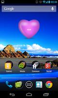 Screenshot of Love Widget (love @ fingertip)