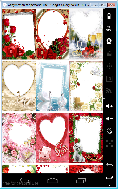 valentine day photo frames screenshot