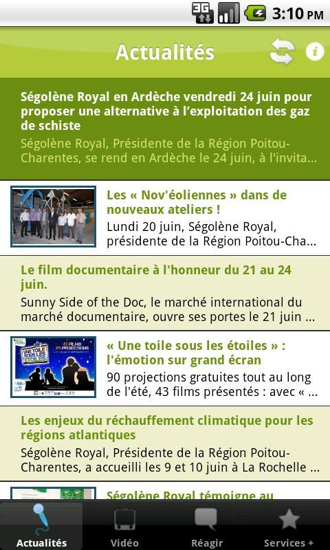 Ma Région Poitou-Charentes - screenshot