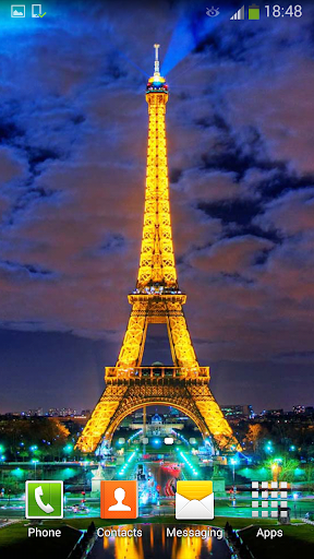 パリの夜 ライブ壁紙