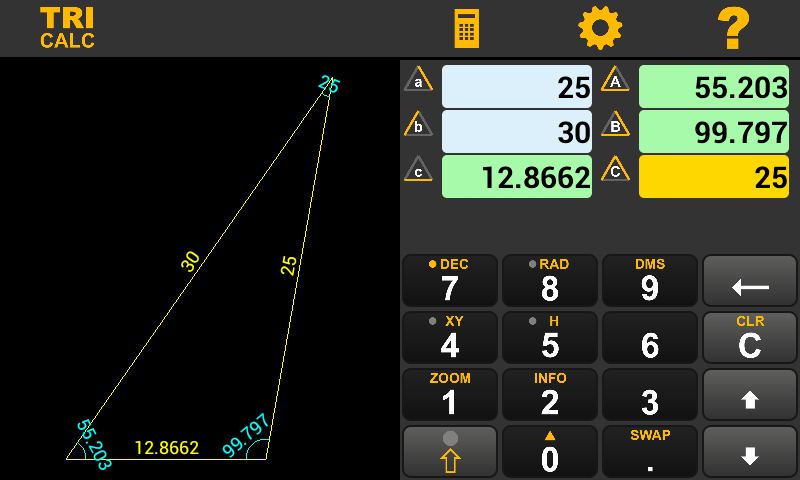 TRI CALC [ Phone / Tablet ]- screenshot
