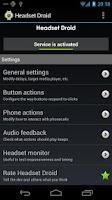 Screenshot of Headset Droid