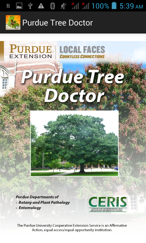 Purdue Tree Doctor- screenshot