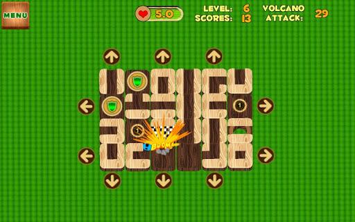 Unblock Maze Volcano Attack