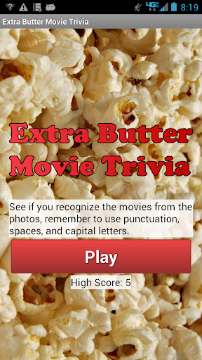 Extra Butter Movie Trivia