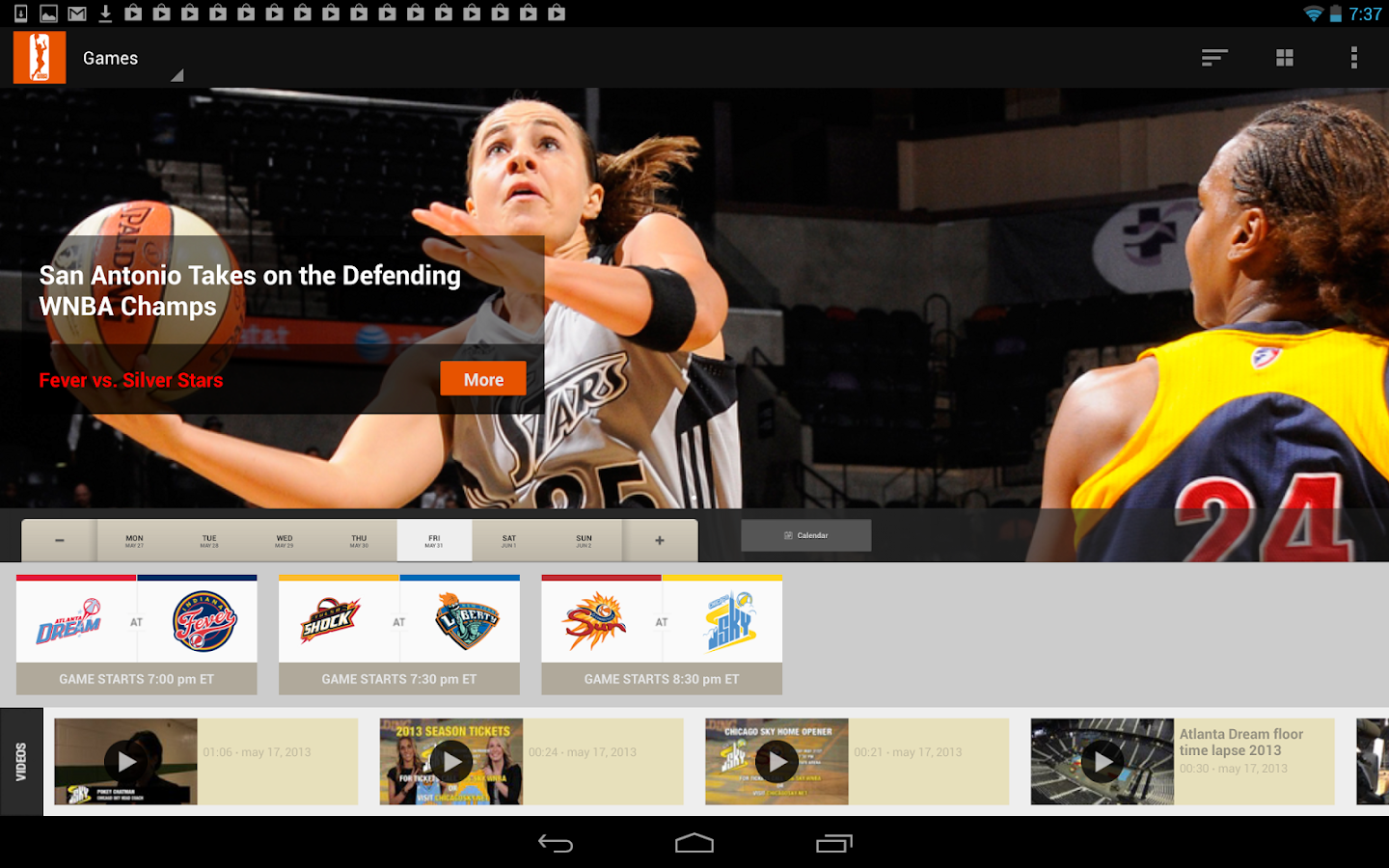 WNBA Center Court - screenshot