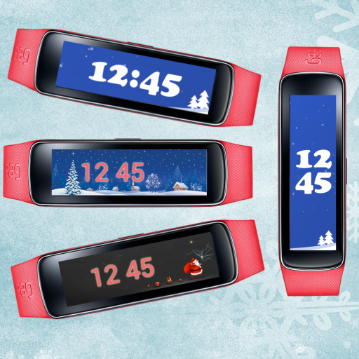 Gear Fit Winter Clock