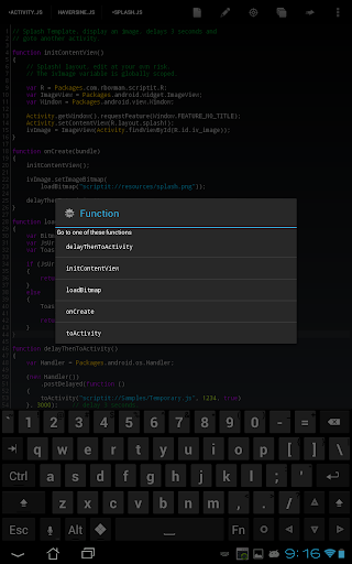 javascript download android