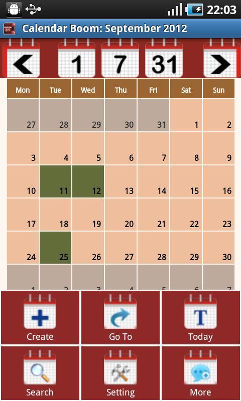 Calendar Boom-Events Reminders- screenshot