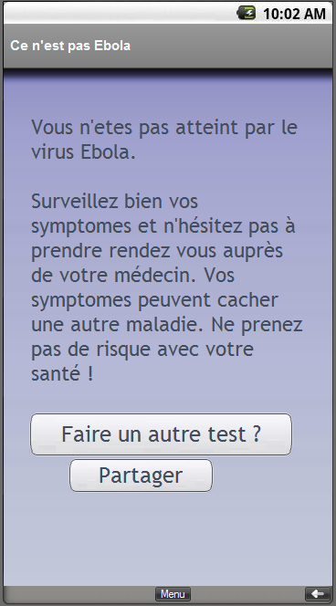 Ebola virus, infected?- screenshot