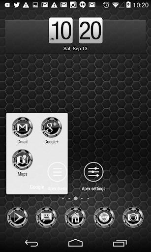 Silver Twister Icons Pack