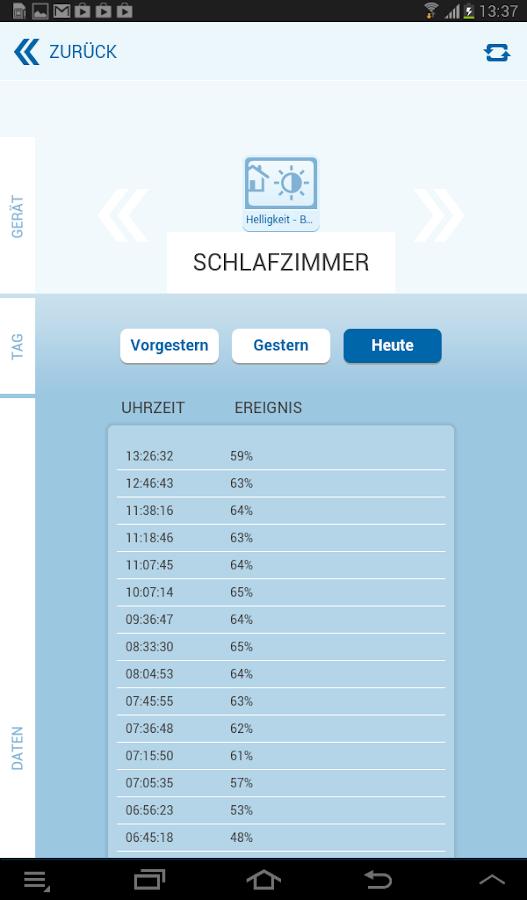 RWE SmartHome - screenshot