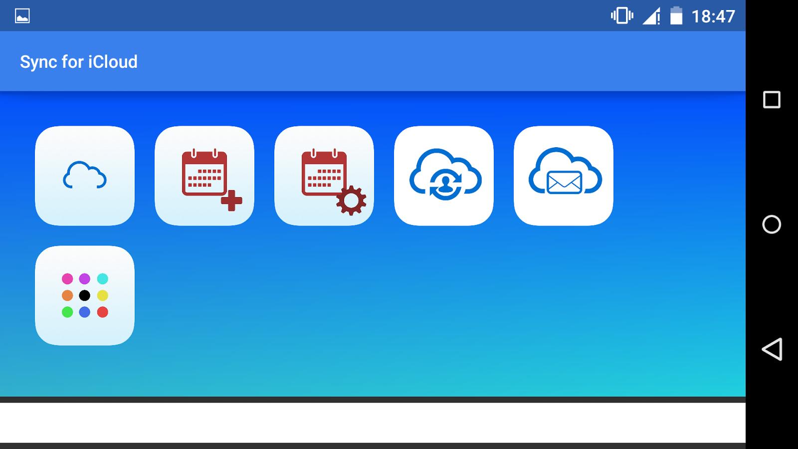 Sync for icloud- screenshot