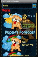 Screenshot of Puppy Weather Widget