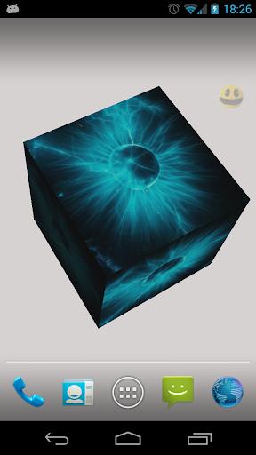3D Picture Cube Wallpaper