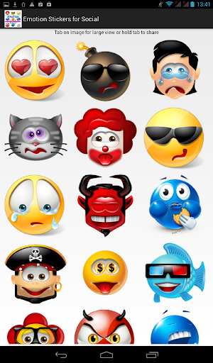 Emotion Stickers for Social