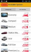 Screenshot of UK Car Hire