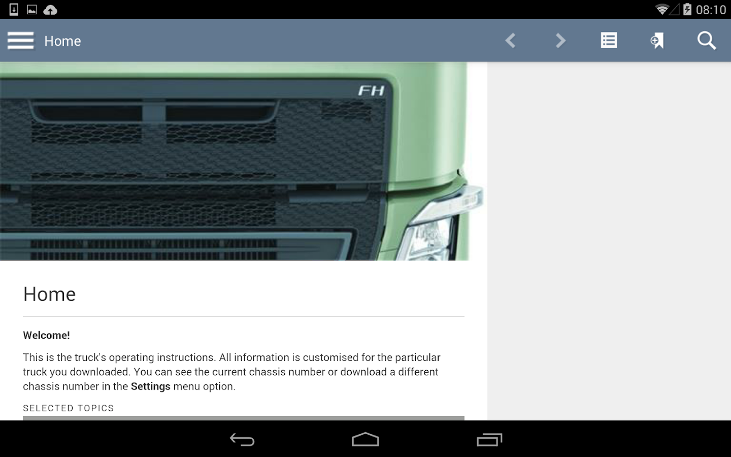 Volvo Trucks Driver's Handbook - screenshot