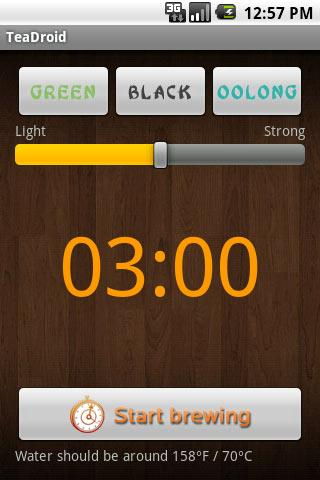 TeaDroid- screenshot