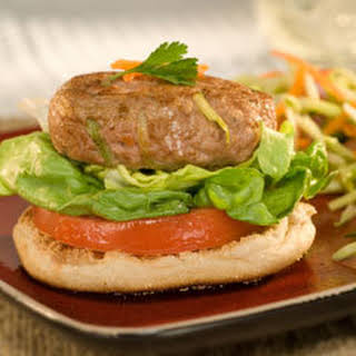 Open-faced Asian Turkey Burgers.