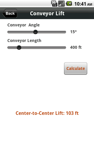 ConveyCalc - screenshot