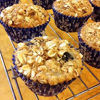 Lemon Blueberry Oatmeal Muffins.