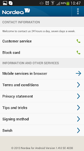 Nordea Mobile Bank – Sweden - screenshot thumbnail