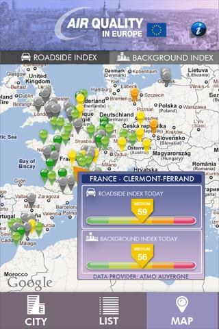 Air Quality in Europe- screenshot