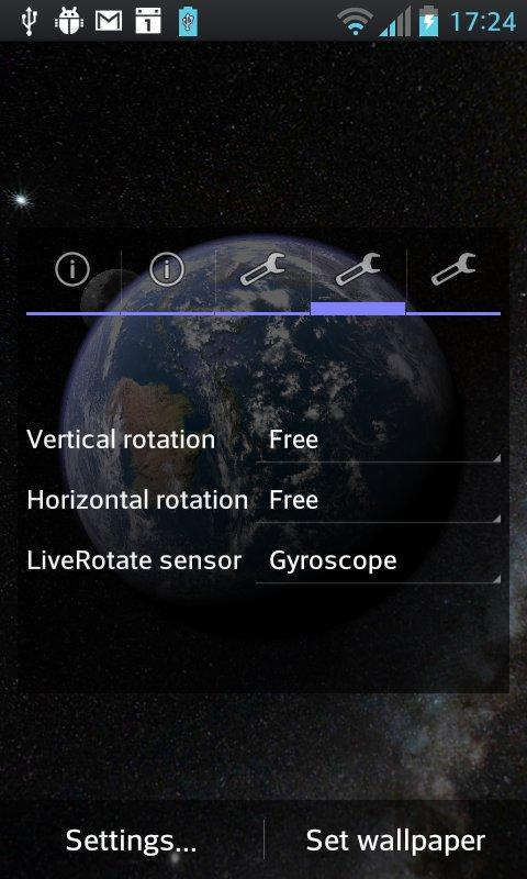 Earth & Moon in HD Gyro 3D - screenshot