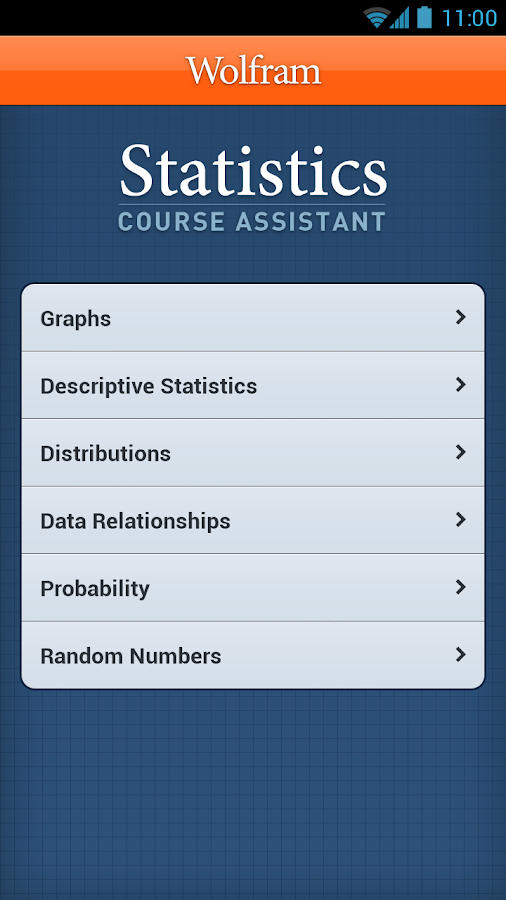 Statistics Course Assistant - screenshot
