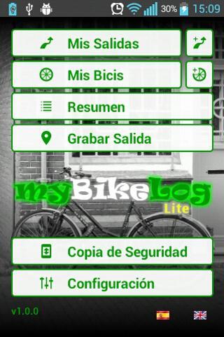 Registro de rutas en bicicleta