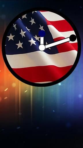 USA Flag Clock Widget