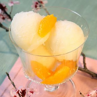 Mandarin Champagne Sorbet.