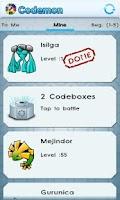 Screenshot of Codemon (Barcode Monsters)