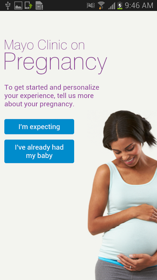 Mayo Clinic on Pregnancy- screenshot