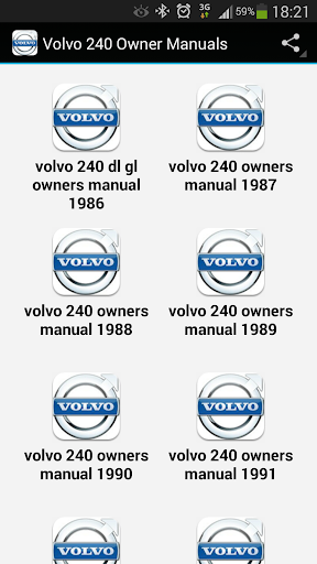 Volvo 240 Owner Manuals