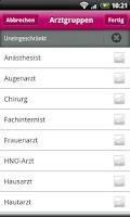 Screenshot of BundesArztsuche