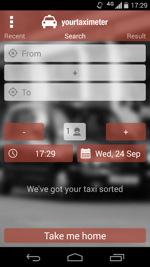 YourTaximeter- screenshot