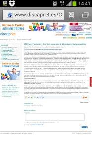 Discapnet noticias- screenshot thumbnail