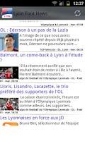 Screenshot of Lyon Foot News