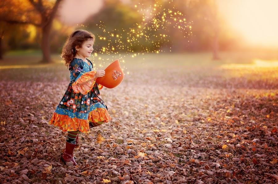 Stardust by Darya Morreale - Digital Art People ( child, magic hat, stardust, girl, sunset,  )