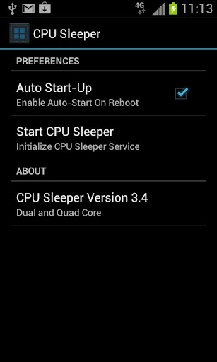 Screenshot #1 of CPU Sleeper Dual Core / Android