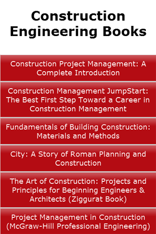 Construction Engineering Books